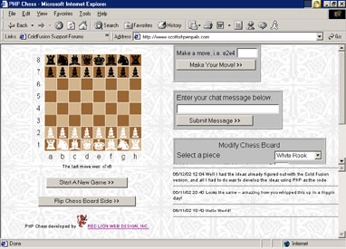 PHP Chess Screenshot